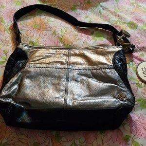The Sak Gold Metallic Leather Shoulder Bag